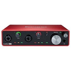 Interface de Áudio USB Focusrite Scarlett 4i4 3ª Geração c/ 4 in/4 out