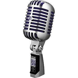 Microfone Dinâmico Supercardióide Shure Super 55 para Palco