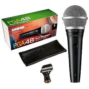 Microfone Dinâmico Shure PGA48-LC com Fio Cardióide