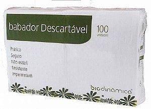 Babador Impermeável Descartável Branco 33x47 C/100