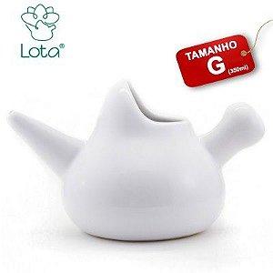 Lota Higienizador Nasal de Porcelana Tamanho G 350 ML