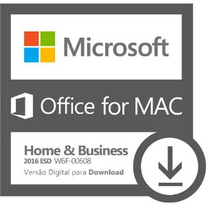 Software Microsoft Office for MAC Home & Business 2016 ESD