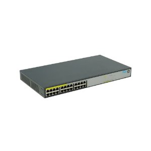 Switch HP 1420 JH019A com 24 portas Gigabit PoE 124W