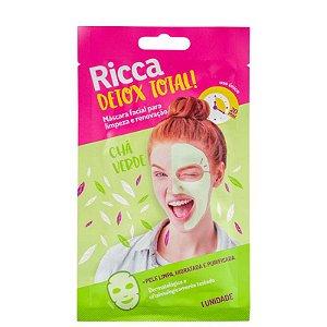 Máscara Facial Limpeza Detox -  Ricca