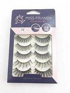 Caixa Cílios Postiços 5 Pares 3D 23 - Miss Frandy