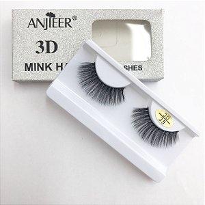 Cílios Postiços 3D Mink 35 - Anjieer