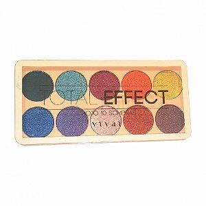Paleta de Sombra 10 cores Total Effect 3 - Vivai