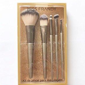 Kit de Pincel 5 peças - Miss Frandy
