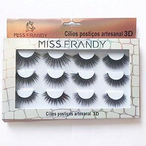 Caixa Cílios Postiços 6 Pares 3D - Miss Frandy
