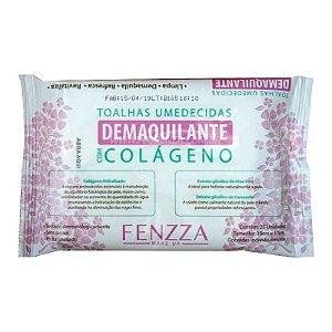 Toalhas Umedecidas Demaquilante com Colágeno - Fenzza