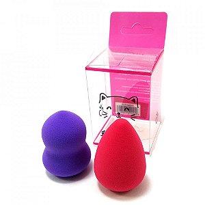 Kit com 2 Mini Esponjas para Maquiagem - Hello Mini