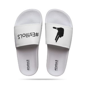 CHINELO SLIDE ESTILOLS LOGO BORDADO