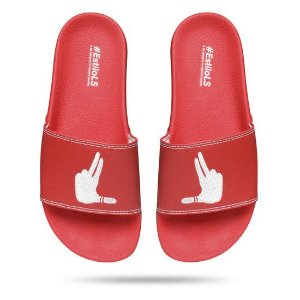 CHINELO SLIDE ESTILOLS LOGO BORDADO RED