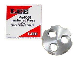 Lee Pro 1000 Turret  3 Hole Quick Change Prensa Recarga