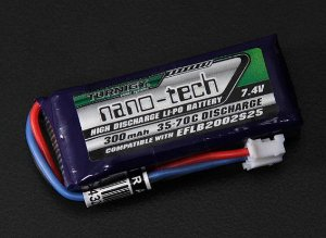 Bateria 300mah 7,4v 2s 35~70c Lipo Nano Tech Airsoft