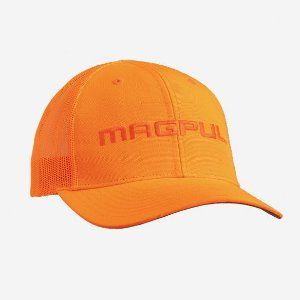 Magpul Bone Wordmark Blaze Orange Trucker