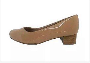 Sapato Piccadilly Salto Baixo Verniz Nude 0110