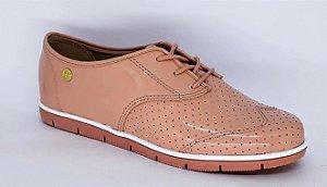 Sapato Feminino Oxford Moleca Preto/rosa 5613.304