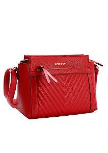 Bolsa Transversal Chic Chenson Vermelho/Bege 3481735