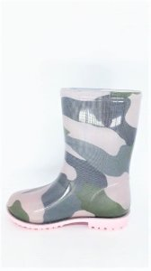 Bota Galocha Infantil World Colors Camuflada 33066