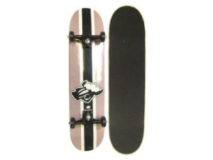 Skate Completo Black Sheep Listra Preto