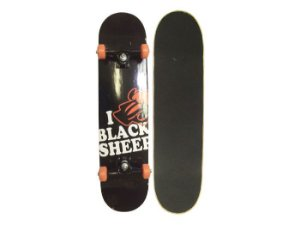 Skate Completo Black Sheep Love BS Preto