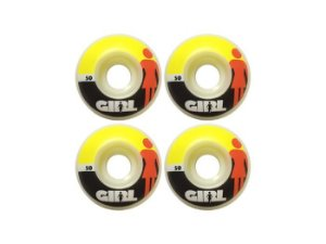 Roda Skate Girl Importada 50mm Branco