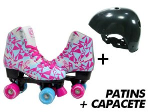 Patins Traxart TR Azul + Capacete  - Kit Especial