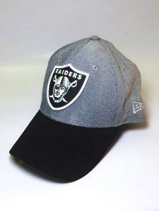 Boné New Era Raiders Logo Cinza