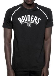 Camiseta New Era Raiders Recorte Preto