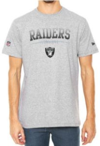Camiseta New Era Raiders Oakland Cinza