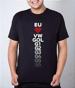 Camiseta preta Eu Amo Gol