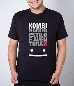 Camiseta preta Kombinando Estilo e Aventura