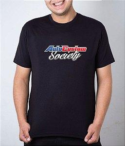Camiseta preta AutoCustom Society