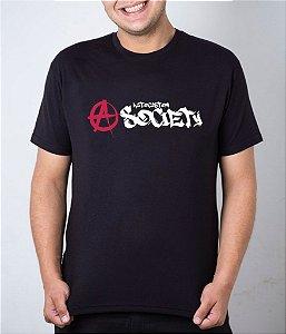 Camiseta preta Anarquia ACS