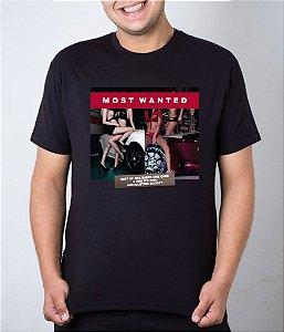 Camiseta preta Most Wanted