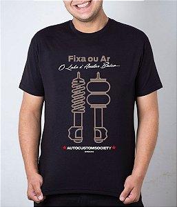 Camiseta preta Fixa ou Ar