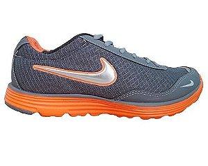 8abb97f6960 Tênis Nike Lunarglide Dynamic Grafite e Laranja MOD 10412