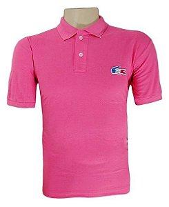 66e1102fc4c Camisa Masculina Polo Lacoste Rosa MOD 71210
