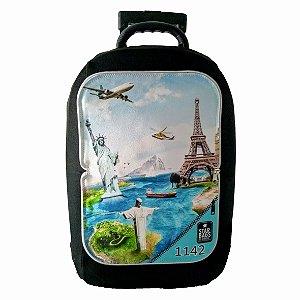 Capa para mala Star Bags Pontos Turisticos