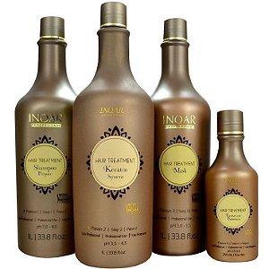 Inoar Hair Treatment (3 x 1 litro) + Leave-in 250ml (Embalagem Nova)