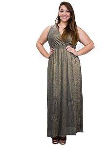 Vestido longo ouro velho