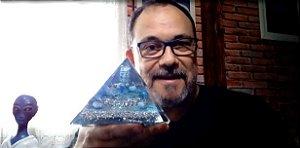BIG PIRÂMIDE ORGONITE DE TUNIA  RAIO AZUL