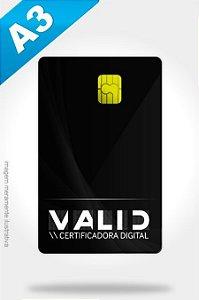 Certificado Digital A3 eCNPJ (Cartão) R$ 380,00
