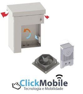 Kit Ventilação Gabinetes Aço ALGcom