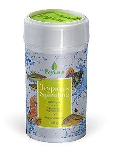 Rações Poytara Tropicais Spirulina 40g (Pote)