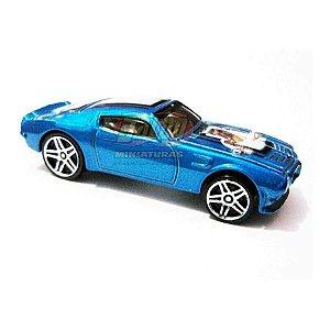Hot Wheels - 70 Pontiac Firebird - 2007 - Azul - Sem cartela (loose)