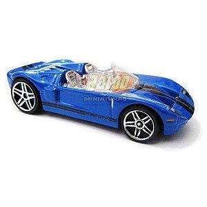 Hot Wheels - Ford Gtx 1 - 2007 - Azul - Sem cartela (loose)