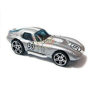Hot Wheels - Shelby Cobra Daytona - 2007 - Prata - Sem cartela (loose)