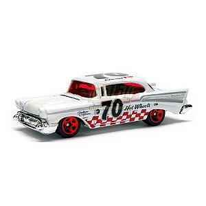 Hot Wheels - 57 Chevy Bel Air - 2008 - Branco - Sem cartela (loose)